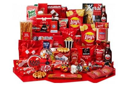 Kerstpakket Gevulde rode tafel