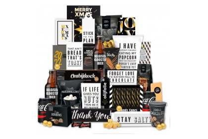 Kerstpakket Bedankt in zwart wit