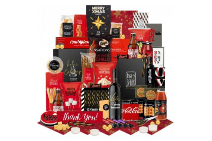 Kerstpakket Groot met zwart-rood