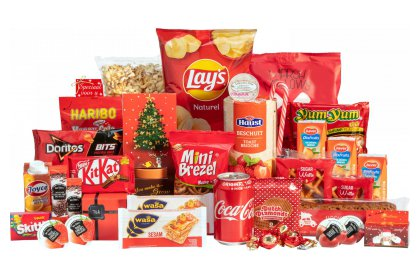 Kerstpakket Schitterend rood