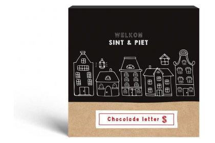 Kerstpakket Sint letter S melkchocolade 40 gram