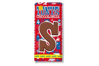 Kerstpakket Tony's Chocolonely Letterreep Melk