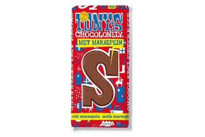 Kerstpakket Tony's Chocolonely Letterreep Melk marsepein