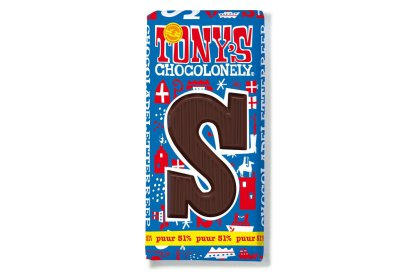 Kerstpakket Tony's Chocolonely Letterreep Puur
